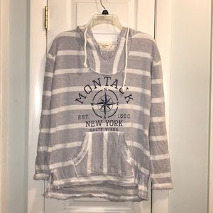Hooded distressed look Montauk sweatshirt